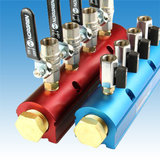 Add ball valves to manifolds for added functionality