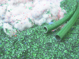 Recycle plant for fiber-reinforced hoses
