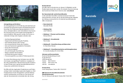 Kurzinfo Deutsche Bundesstiftung Umwelt