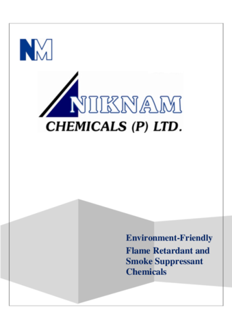 Breif Company Profile NIKNAM CHEMICALS PRIVATE LIMITED