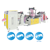 CWAP+CS-SV Perforating Coreless Bags On Roll+ Double Shafts Rewind Changing Rolls Device