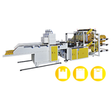 CWA2+6+P-SV Fully Automatic Double Layer (6 Lines) T-Shirt Bag Cutting & Sealing Machine