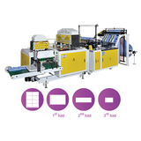 CWA+3F-SV Fully Automatic Bottom Sealing Bag Making Machine with 3 Folding Device by Servo Motors Control