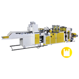 Super High Speed Fully Automatic T-shirt Bag Making Machine With 2 Photocells & Double Servo Motors Control