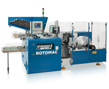 Automatic embossing and rewinding machine